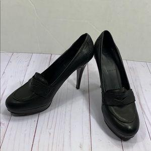 J. Crew leather Oxford heels size 8 1/2